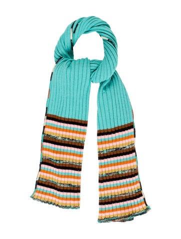 M Missoni Wool Striped Scarf None