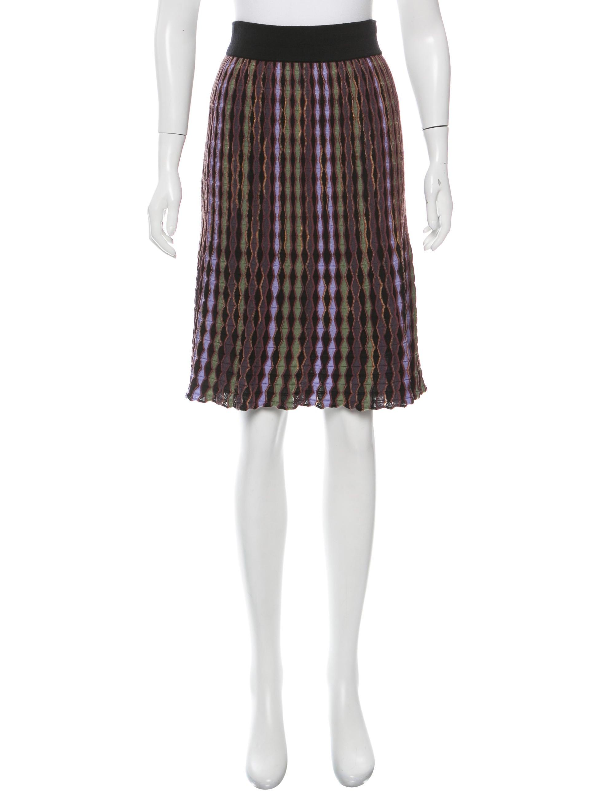 Knitting Skirt Tutorial : M missoni knit pattern skirt clothing wm the