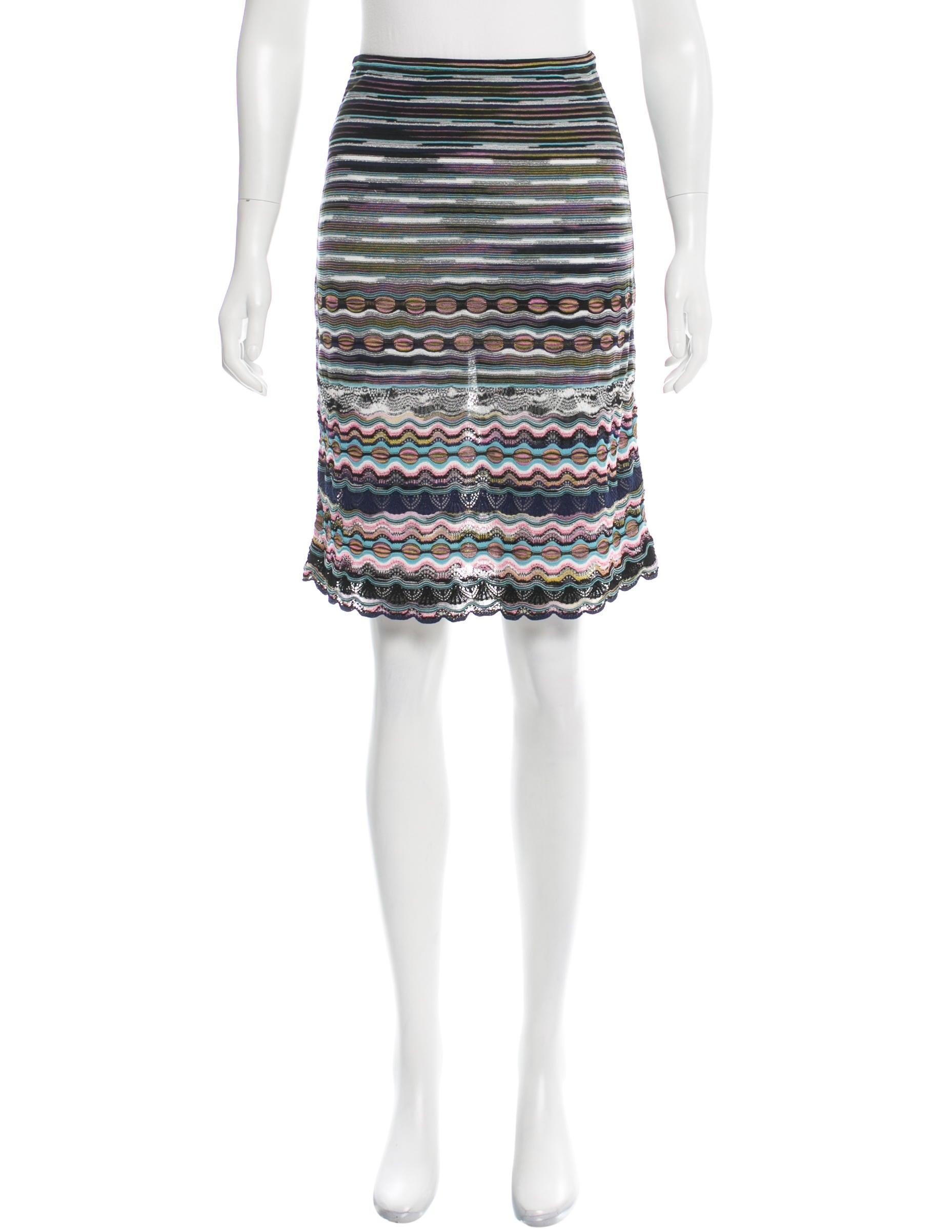 m missoni chevron a line skirt clothing wm437159 the