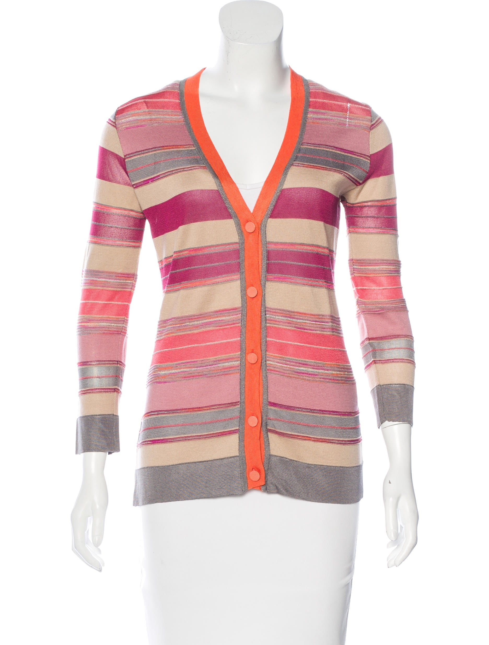 M Missoni Striped Knit Cardigan - Clothing - WM437181 ...