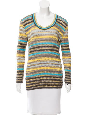M Missoni Pattered Long Sleeve Top None