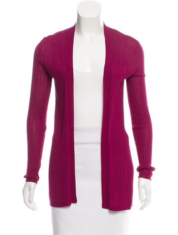 M Missoni Open Front Knit Cardigan None