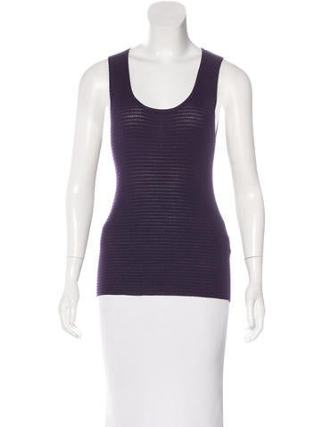 M Missoni Rib Knit Sleeveless Top None