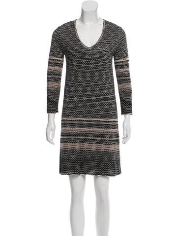 M Missoni Abstract Print Rib Knit Dress None