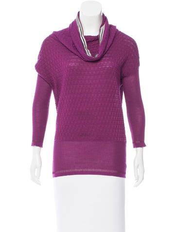 M Missoni Funnel-Neck Sweater None