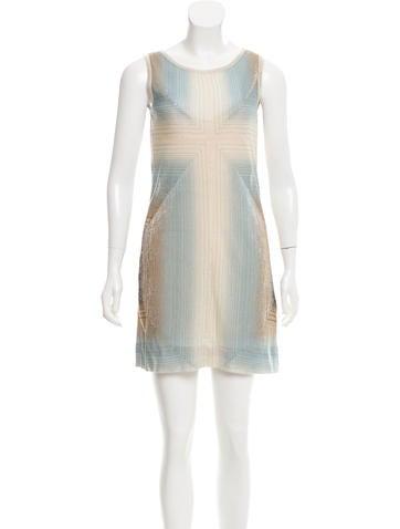 M Missoni Striped Mini Dress None