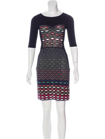 M Missoni Intarsia Mini Dress None