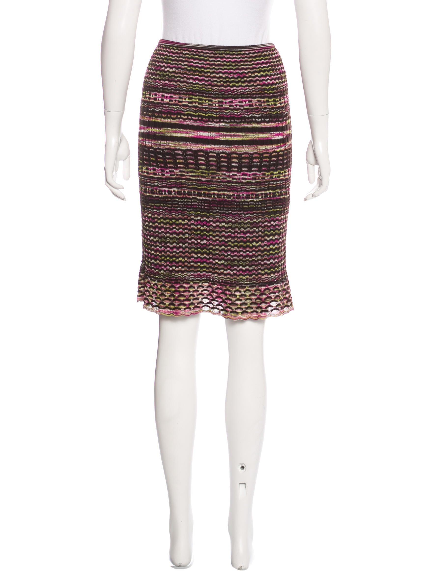 m missoni knit knee length skirt clothing wm437670