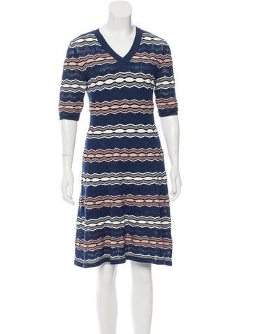M Missoni Textured Knit Dress None
