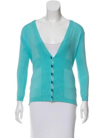 M Missoni Knit Button-Up Cardigan None