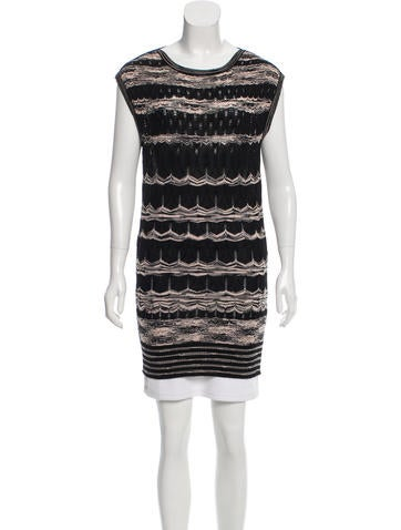 M Missoni Sleeveless Rib Knit Top None