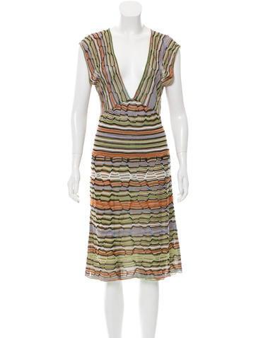 M Missoni Sleeveless Midi Dress None