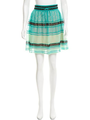 M Missoni Patterned Knee-Length Skirt w/ Tags None