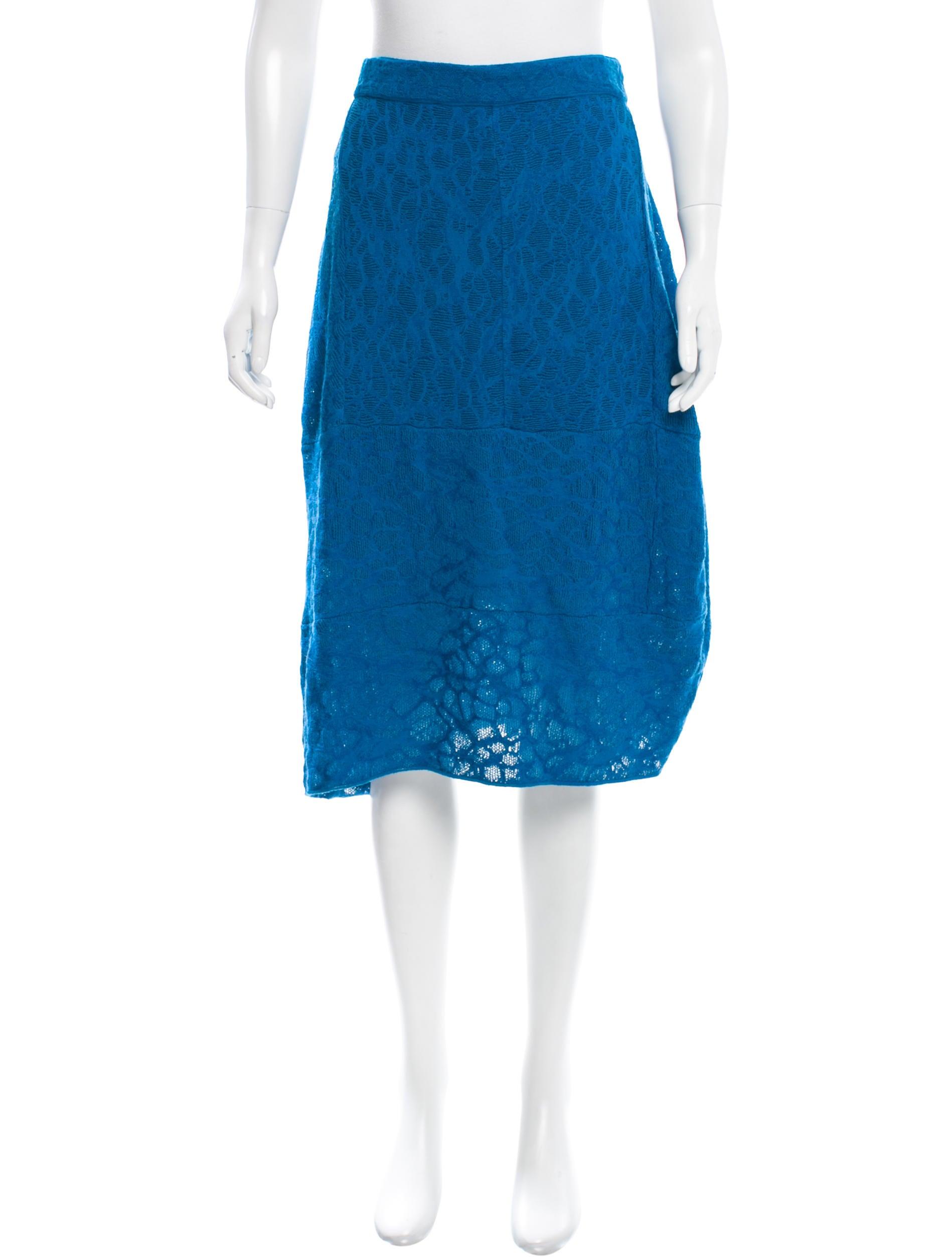 m missoni knit knee length skirt clothing wm438192