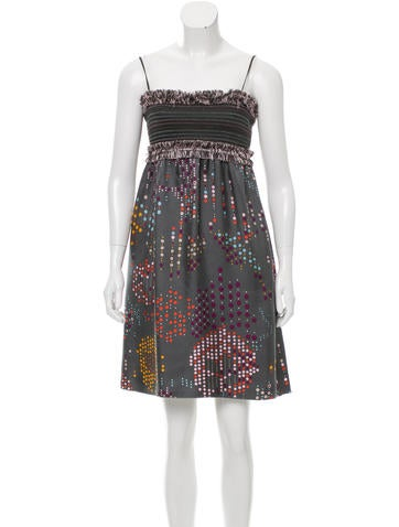 M Missoni Printed Sleeveless Dress None