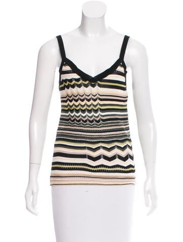 M Missoni Patterned Sleeveless Top w/ Tags None
