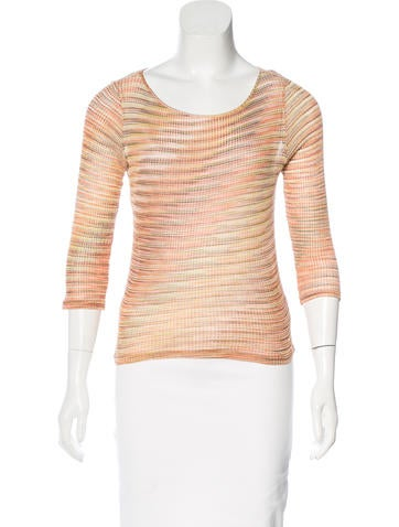 M Missoni Stripe Knit Top None