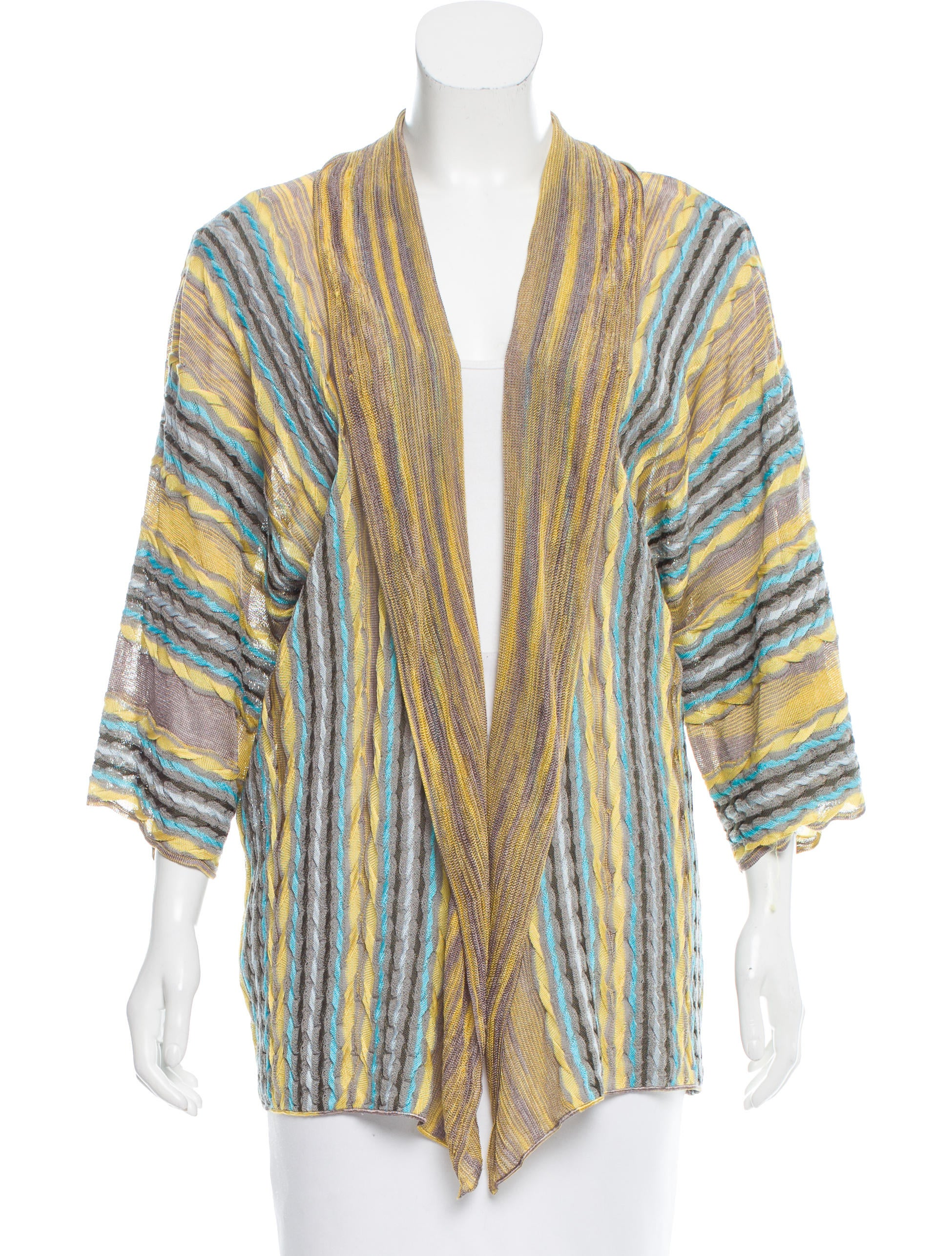 M Missoni Open Front Knit Cardigan - Clothing - WM438676 The RealReal