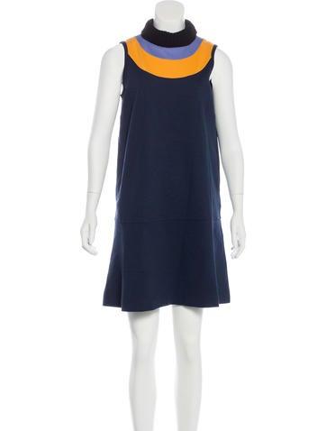 M Missoni Sleeveless Turtleneck Dress None
