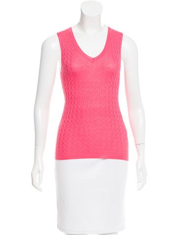 M Missoni Wool-Blend Sleeveless Top w/ Tags None