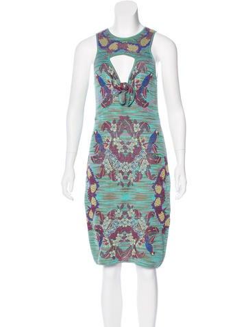 M Missoni Intarsia Cutout Dress None