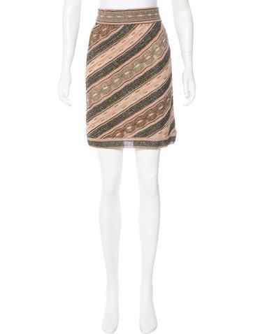 M Missoni Metallic A-Line Skirt None