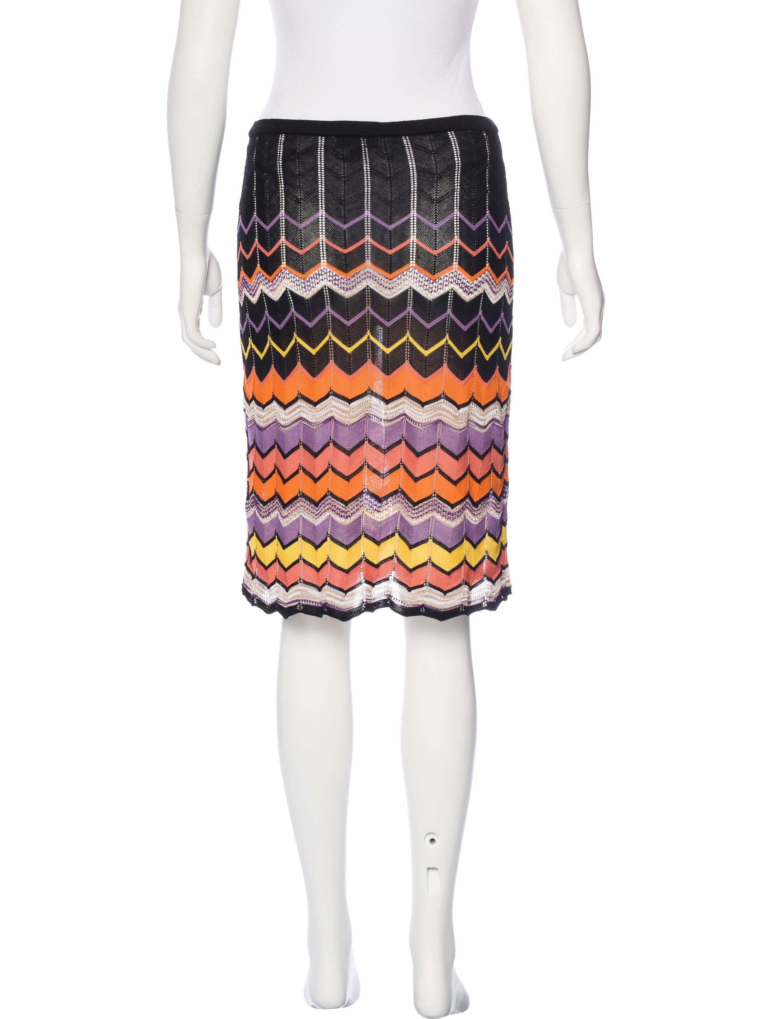 M Missoni Patterned Knee Length Skirt Clothing