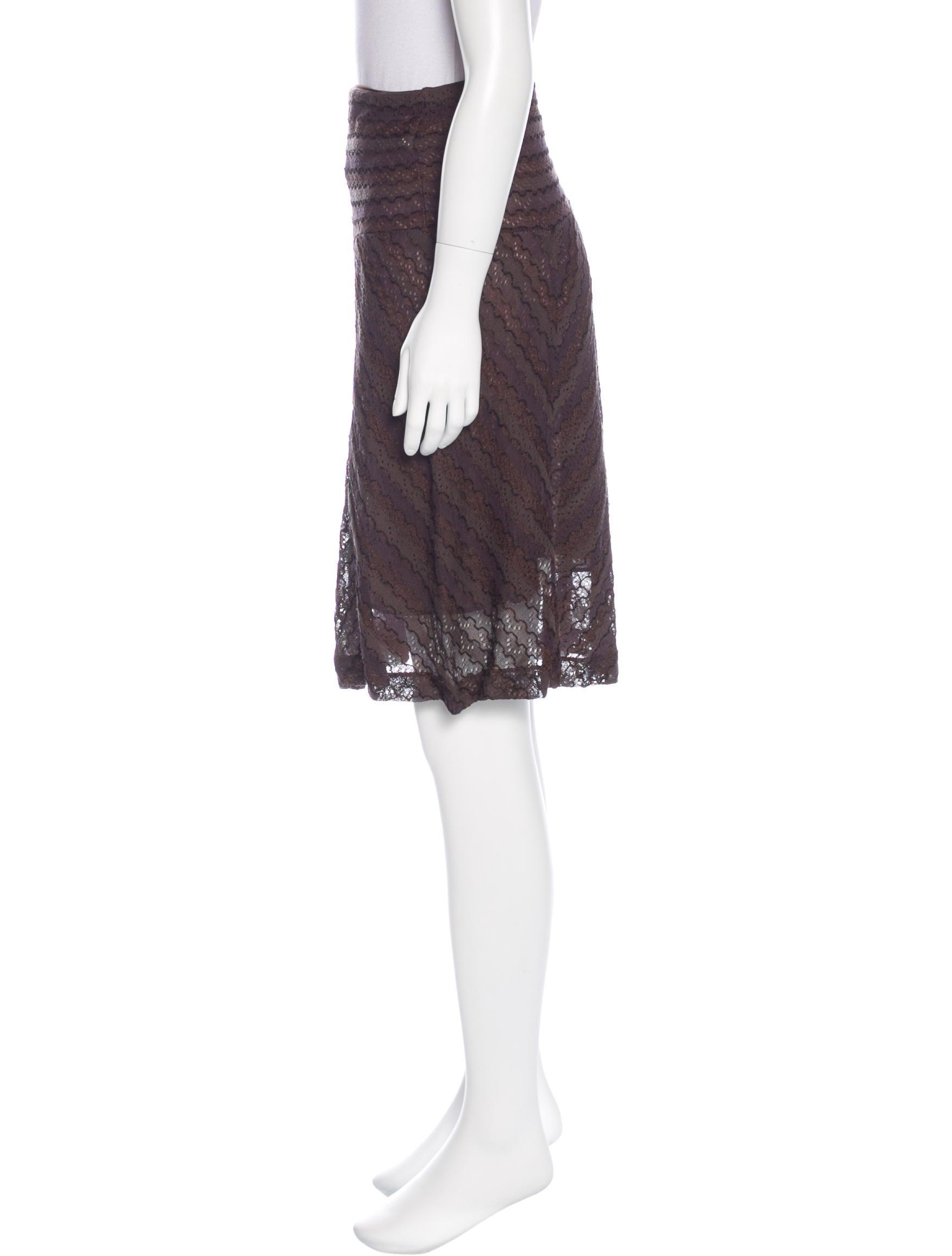 m missoni knit knee length skirt w tags clothing