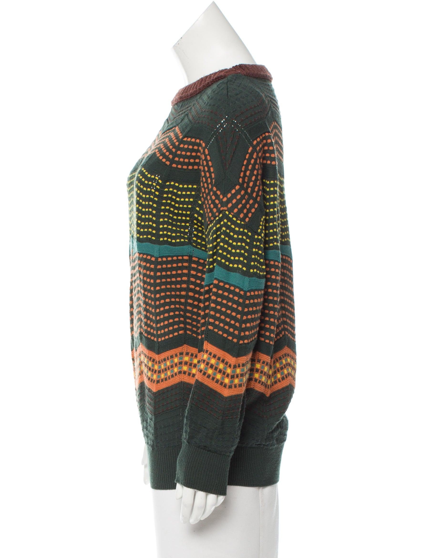 Zig Zag Sweater Knitting Pattern : M missoni zig zag pattern knit sweater clothing