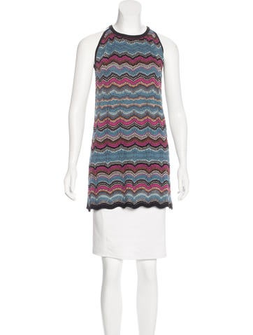 M Missoni Striped Sleeveless Dress None