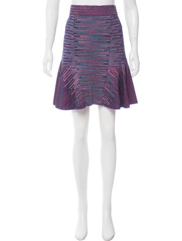 M Missoni Metallic Flounce Skirt None