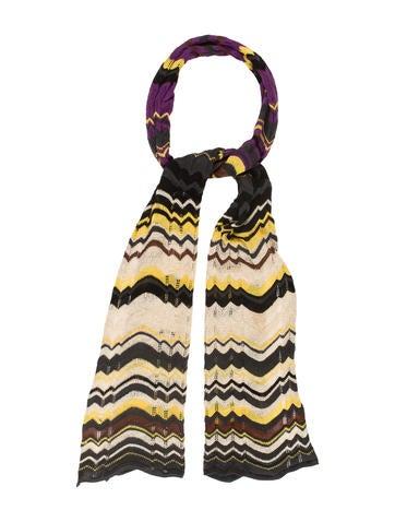 M Missoni Metallic Knit Scarf None