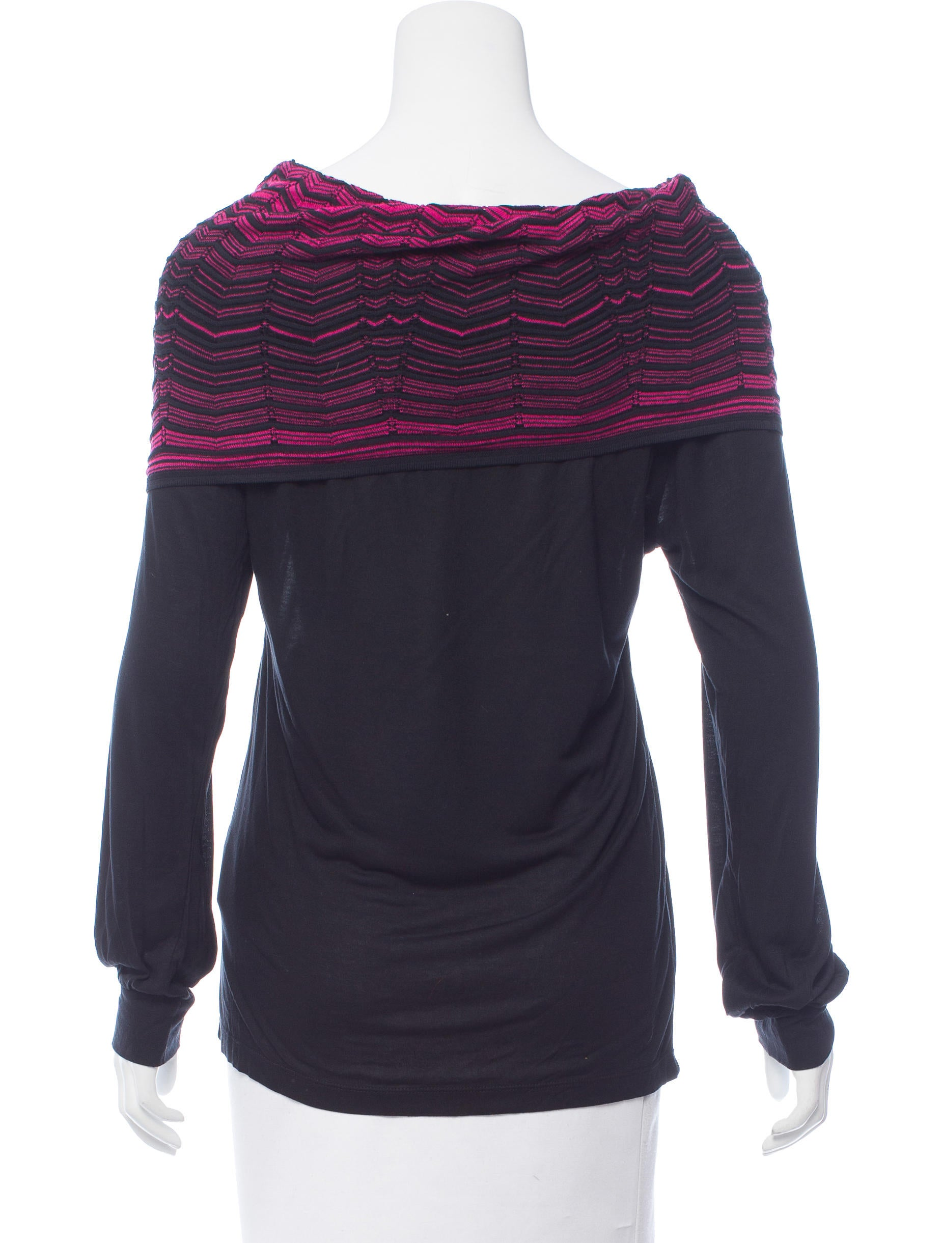 M missoni cowl neck long sleeve top w tags tops