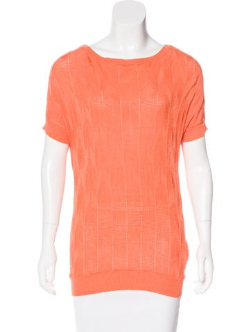 M Missoni Short Sleeve Knit Top None