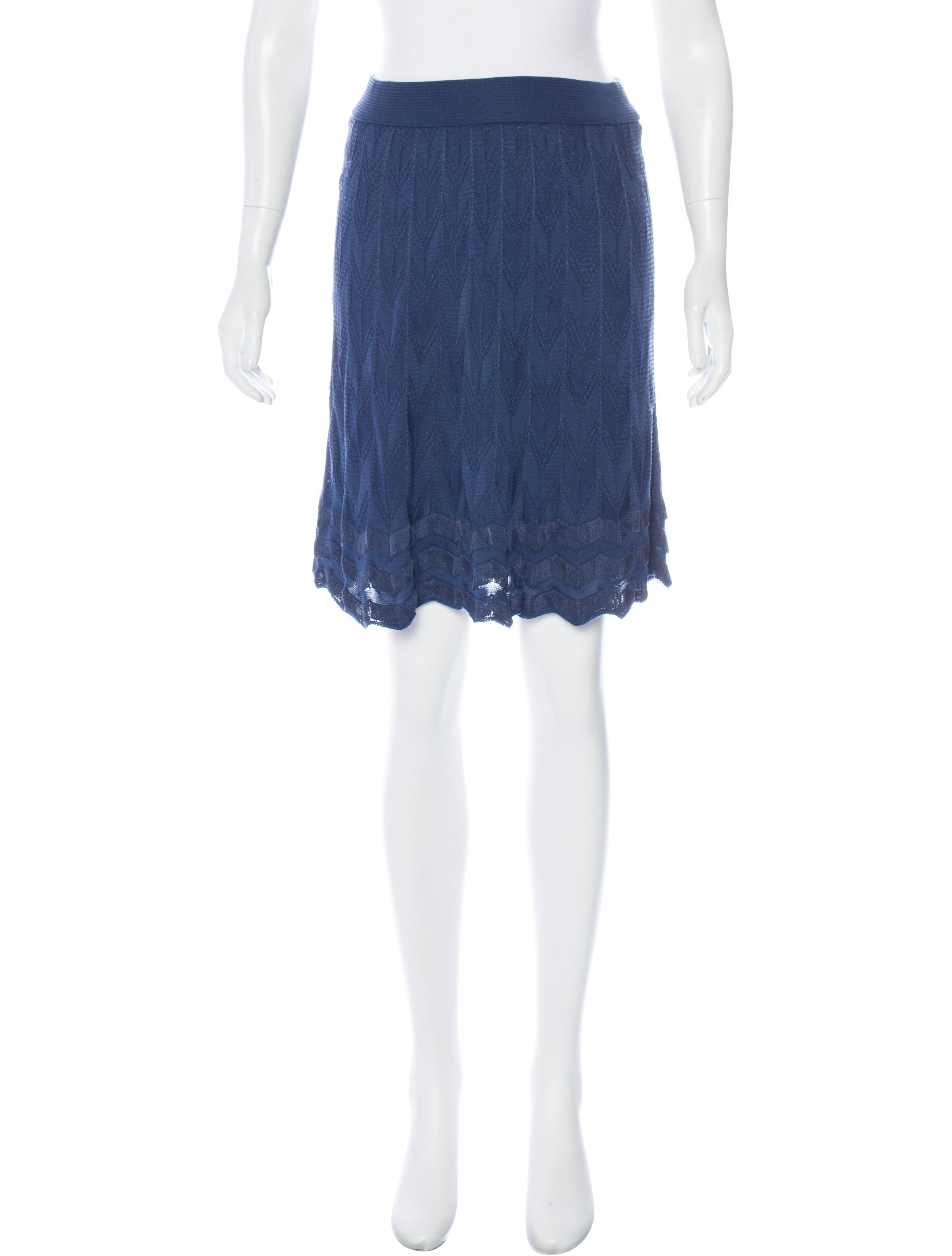 m missoni knit knee length skirt clothing wm439608