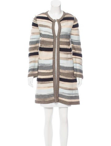 M Missoni Textured Knit Cardigan None
