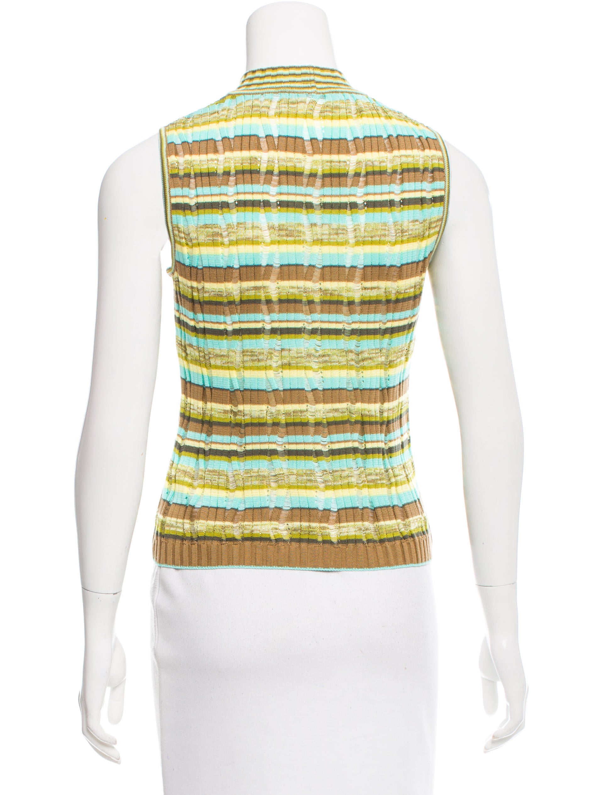 M missoni mock neck sleeveless top clothing wm439807 for Sleeveless mock turtleneck shirts