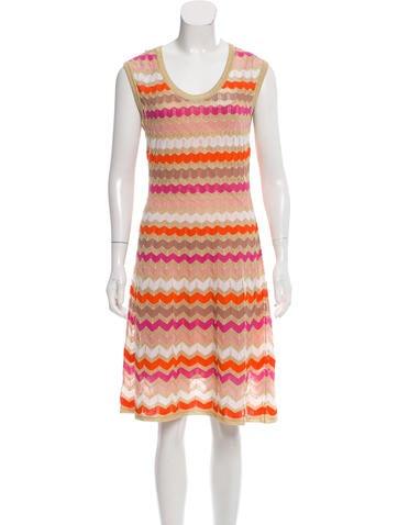 M Missoni Chevron Pattern Midi Dress w/ Tags None