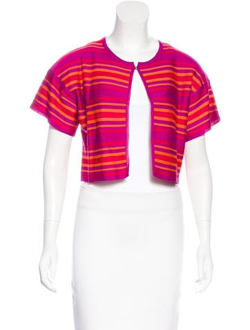 M Missoni Striped Cropped Cardigan None