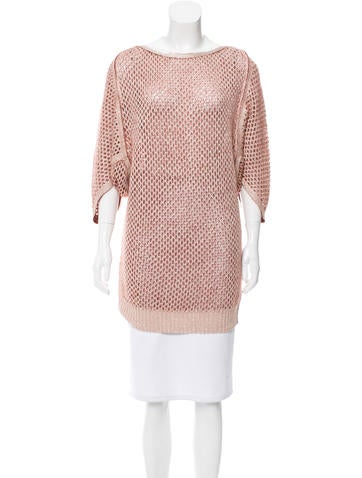 M Missoni Open Knit Long Sweater w/ Tags None