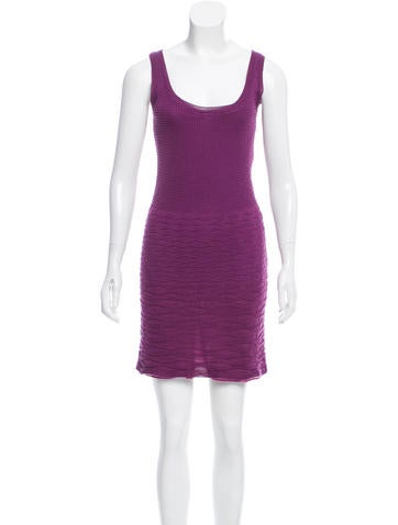 M Missoni Sleeveless Mini Dress None