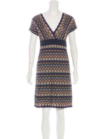 M Missoni Wool Patterned Dress None
