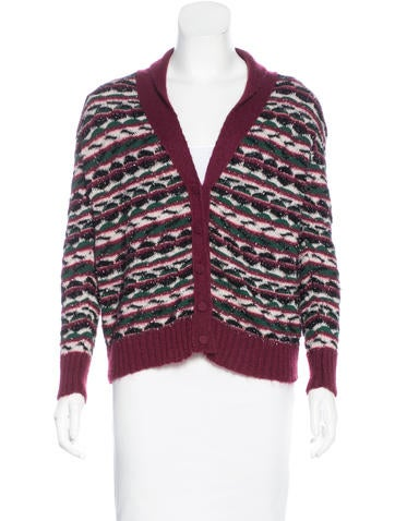 M Missoni Metallic Long Sleeve Cardigan None