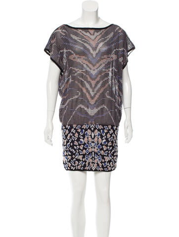M Missoni Patterned Mini Dress None