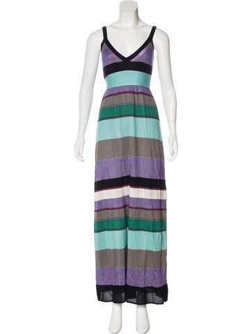 M Missoni Striped Maxi Dress None