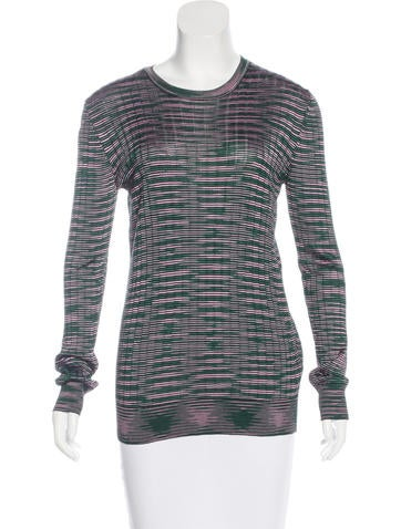 M Missoni Striped Long Sleeve Top None