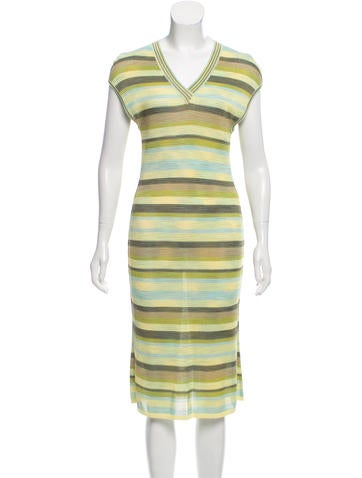 M Missoni Striped Midi Dress w/ Tags None