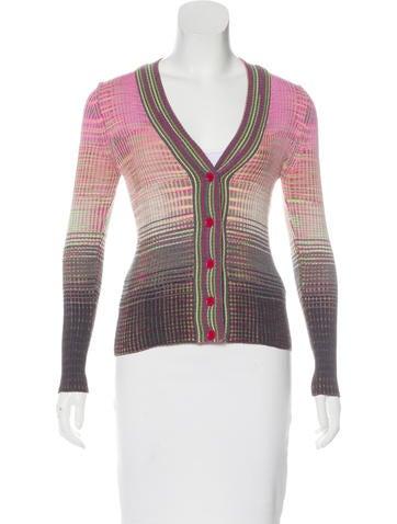 M Missoni Wool-Blend Knit Cardigan None