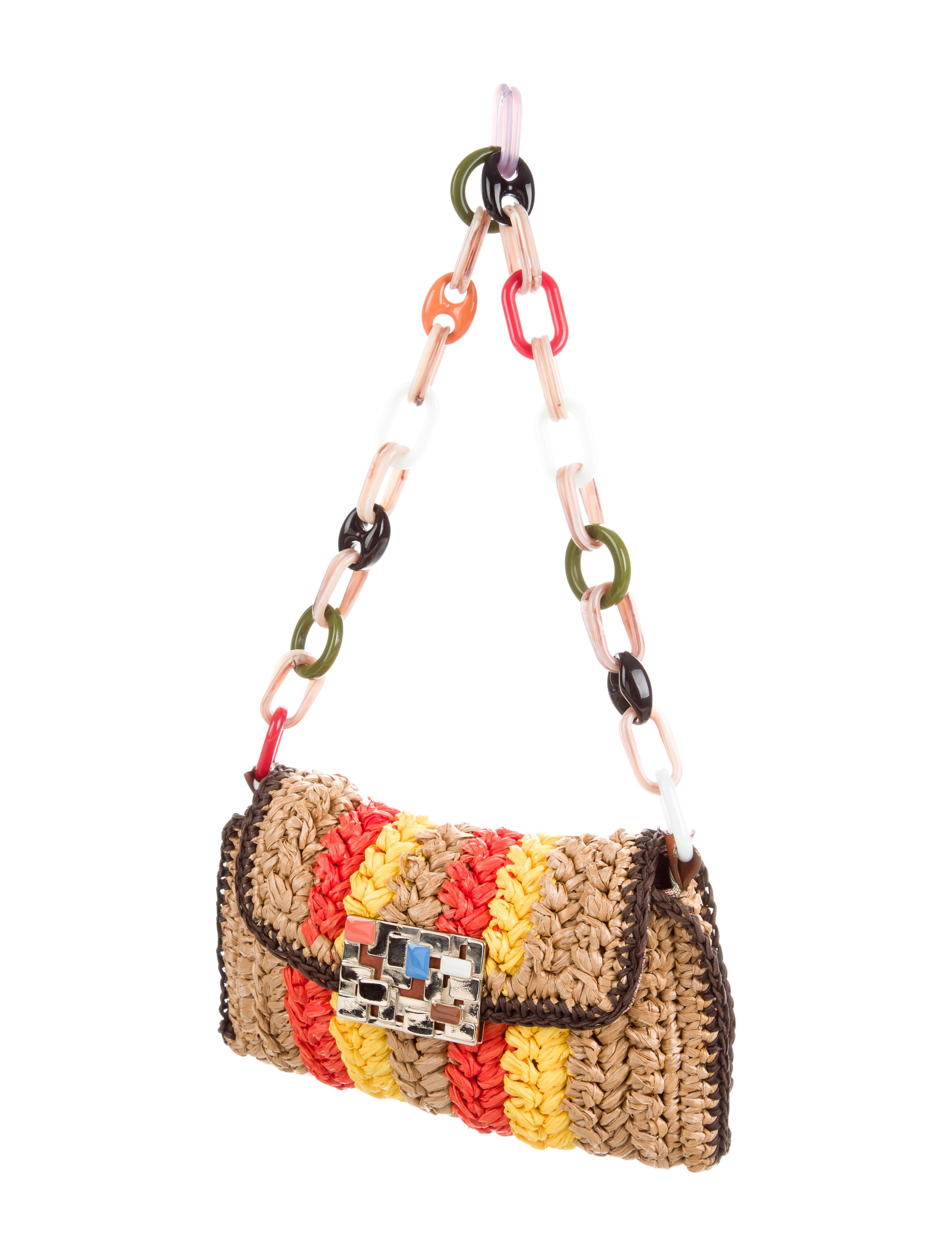 M Missoni Raffia Shoulder Bag Handbags Wm440236 The