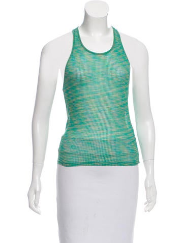 M Missoni Sleeveless Scoop Neck Top None